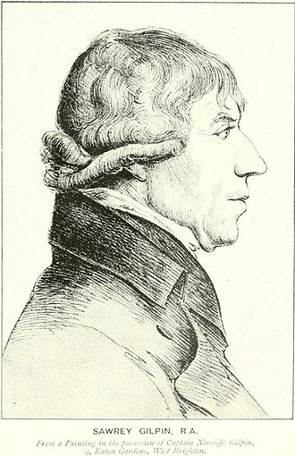 Sawrey Gilpin - Portrait of Gilpin (engraving by William Daniell after George Dance)