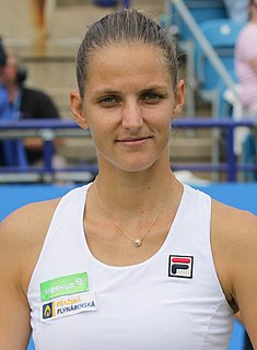 Karolína Plíšková Czech tennis player