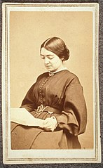 Portrait of Mary Putnam Jacobi, reading, ca. 1860-1865. (25622774586).jpg