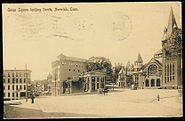 PostcardNorwichCTUnionSquareLookingSouth1908