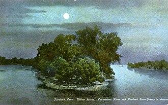 Portland, Connecticut - Willow Island, 1910 postcard