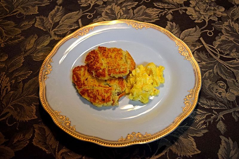 Potato pancakes and eggs.jpg