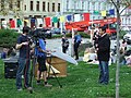 Praha, Nové město, Happening OH Peking - podpora Tibetu Richard Samko.JPG