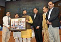 "Prakash Javadekar presented the portraits of Param Veer Chakra heroes to the Vice Chancellors of Universities, at the inauguration of the ""VIDYA, VEERTA ABHIYAAN"", in New Delhi (2).jpg"