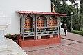 Prayer wheels in Kharbandi Gompa, Phuentsholing.jpg
