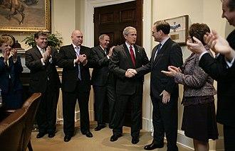 Steve Schmidt - Schmidt with President George W. Bush in January 2006