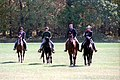 President Ronald Reagan, Nancy Reagan, Ron Reagan, Doria Reagan Horseback Riding at Camp David.jpg