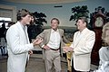 President Ronald Reagan with Christopher Reeve and Frank Gifford.jpg