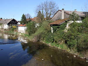Prien (river) - The Prien in the eponymous town