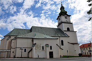 Prievidza City in Slovakia