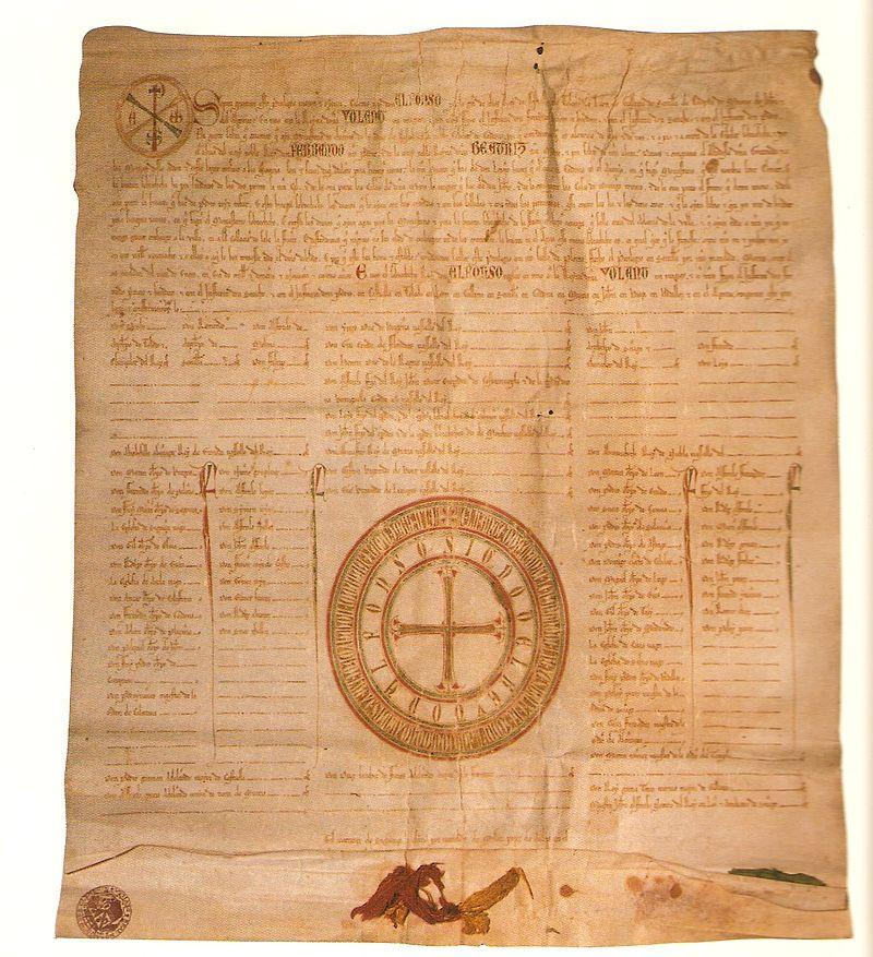Privilegio rodado de Alfonso X concediendo una huerta al monasterio de San Clemente de Córdoba (11-1-1261).jpg