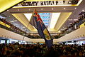 Protest in New Town Plaza with Flag of the British colony of Hong Kong 20150215.jpg