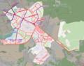 Public transport in Zavodski district (Minsk, Belarus) — Общественный транспорт в Заводском районе (Минск, Беларусь).png