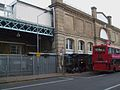 Putney Bridge stn matchday entrance closed.JPG