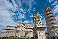 Putti Fountain, Pisa Cathedral (Duomo di Pisa) (forefront), The Leaning Tower of Pisa (background), Piazza dei Miracoli (-Square of Miracles-). Pisa, Tuscany, Central Italy.jpg