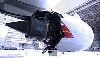 Qantas Flight 32 engine damage - 4 Nov 2010.jpg