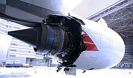 Qantas Flight 32 engine damage - 4 Nov 2010.jpg