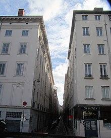 Quartiere Saint Clair a Lione, rue Royale