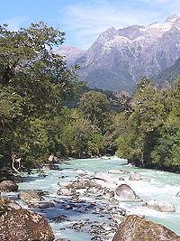 Río en la zona de Palena