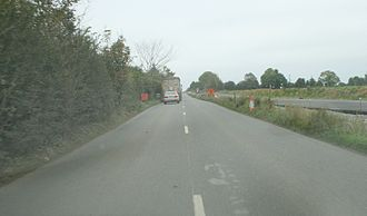 R158 road (Ireland) - Realignment works on the R158 between Summerhill and Kilcock in October 2007