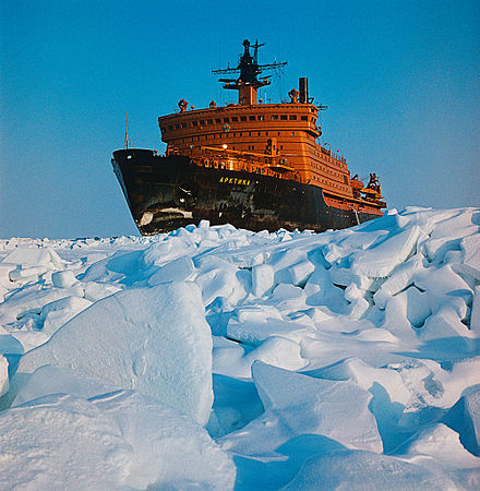 Icebreaker Arktika, the first surface ship to reach the North Pole RIAN archive 186141 Nuclear icebreaker Arktika.jpg