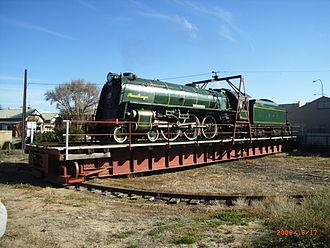 SteamRanger Heritage Railway - 621 The Duke of Edinburgh at Victor Harbor in June 2006