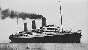 RMS Majestic (1914) - Image: RMS Majestic, F. G. O. Stuart(cropped)