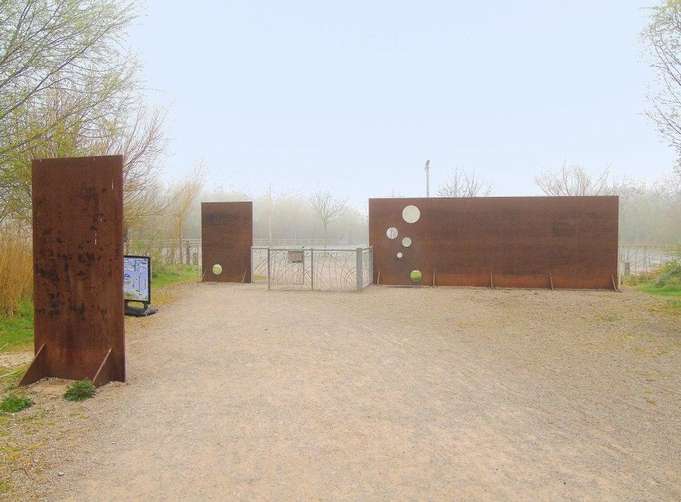 RSPB Nature Reserve Visitors Centre Exit Facing Car Park