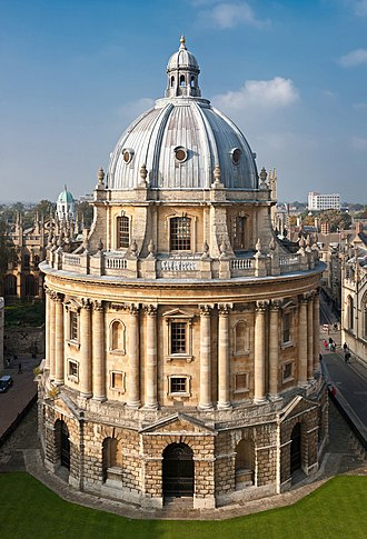 Bodleian Library - The Radcliffe Camera, viewed from the University Church