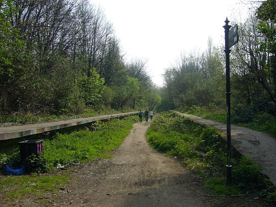 Railway Platforms on Parkland Walk