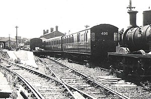 Isle of Wight Central Railway - Newport Station after closure)
