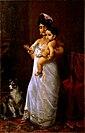 Raja Ravi Varma, There Comes Papa (1893).jpg