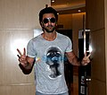 Ranbir Kapoor snapped attending the launch of the Panasonic campaign Dil Se.jpg