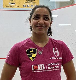 Raneem El Weleily Egyptian squash player