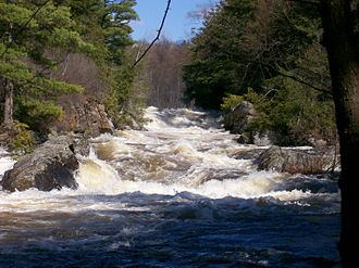 Run-of-the-river hydroelectricity - Rapids can provide enough hydraulic head
