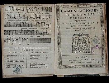 Raval, Lamentationes Hieremiae Prophetae