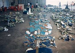 Recovered wreckage of SilkAir flight MI185 (9V-TRF).jpg
