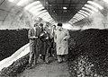 Recyclingbedrijf Rutte. Rondleiding directeuren van de Reinigingsdiensten in Parijs, Lyon en Lille werden rondgeleid door technische directeur Ir. J. ten Wolde (links). Aangekocht in 1984 van fotograa.JPG