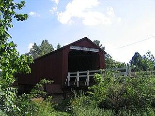 Red Covered Bridge (Illinois) wooden bridge in Bureau County, Illinois