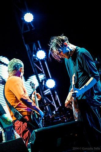 Josh Klinghoffer - With RHCP bassist Flea, at Lollapalooza Chile, 2014