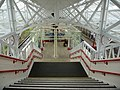 Refurbished canopy and stairs - Halifax station - geograph.org.uk - 1607387.jpg