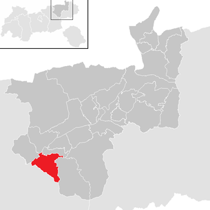 Location of the municipality of Reith im Alpbachtal in the Kufstein district (clickable map)