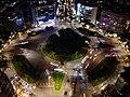 Renai Roundabout at night from the air.jpg