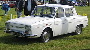 Renault 8 and 10 - Renault 10 (1967–70), square headlight version