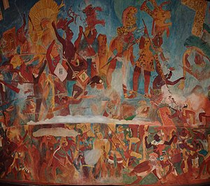Reproduction of Bonampak murals (center) 2.JPG