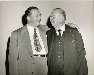 Charles Coburn - Irving Leroy Ress (left), Charles Coburn (right), ca 1950.