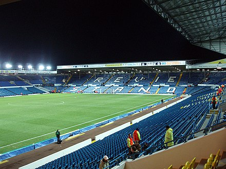 A 2007 photograph of the Revie Stand at Elland Road, the ground where Arsenal faced Leeds United in the third round Revie Stand, Elland Road.jpg