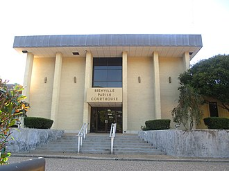Bienville Parish, Louisiana - The former Bienville Parish  courthouse building in Arcadia is adjacent to the parish library.