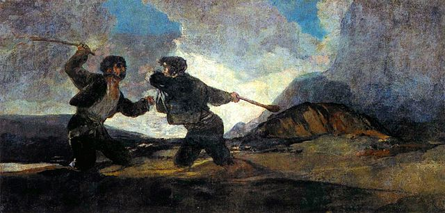 Riña a garrotazos, de Goya