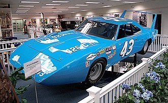 Plymouth Superbird - Petty's Road Runner Superbird on display at the Richard Petty Museum
